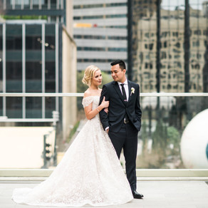 Alex and Alex Modern Wedding at The Joule