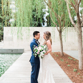 Leland and JD's Glam and Garden Wedding at Nasher Sculpture Museum