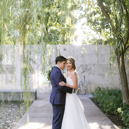 Anastasia and Andrew's Whimsical Garden Wedding at The Nasher Museum