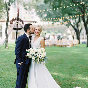 Keri and Peyton's Garden Wedding at The Nasher Sculpture Museum