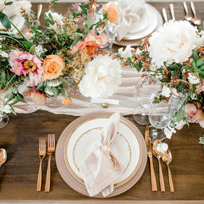 The Nest at Ruth Farms Peach and Blush Editorial Shoot