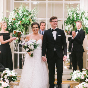 Charlotte and Wylee's Modern Garden Wedding at The Adolphus