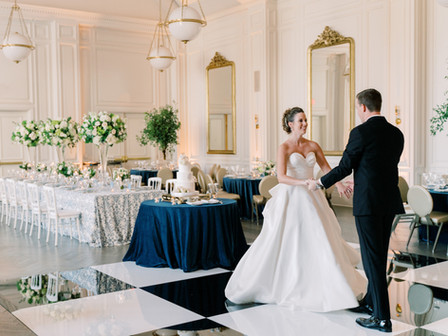 Emma and Patrick's Blue and White Southern Wedding at The Adolphus