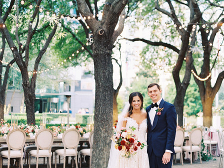 Lauren and Garrett's Outdoor Garden Wedding at Marie Gabrielle