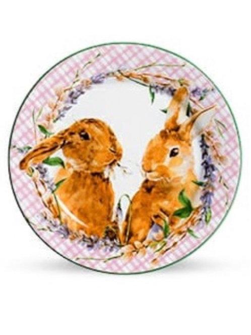 Pratos de Sobremesa Bunny Scalla Concept Páscoa - Rosa