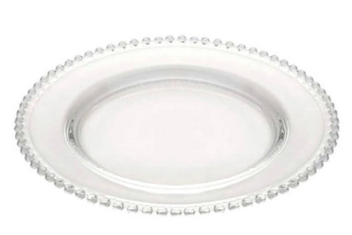 Sousplat de cristal Pearl Clear