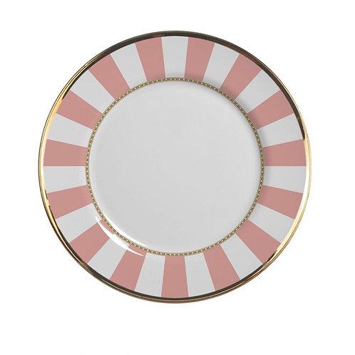 Prato de Sobremesa Pink Strip