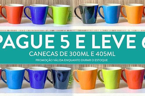 Kit de Canecas de Porcelana - 400ml