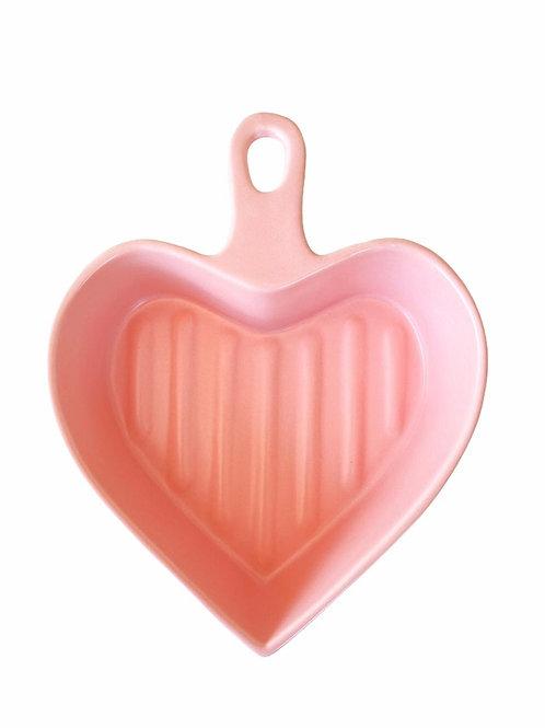 Travessa Coração Color - Rosa