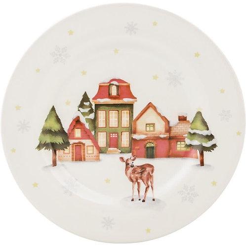 Prato de Sobremesa Sonho de Natal home