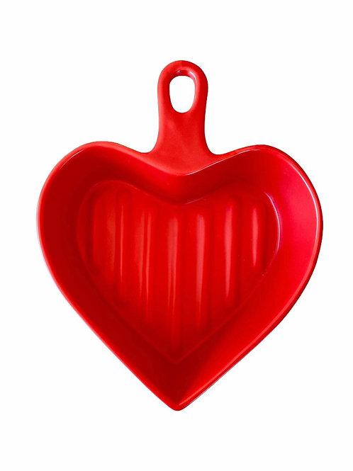 Travessa de coração Color - Vermelha