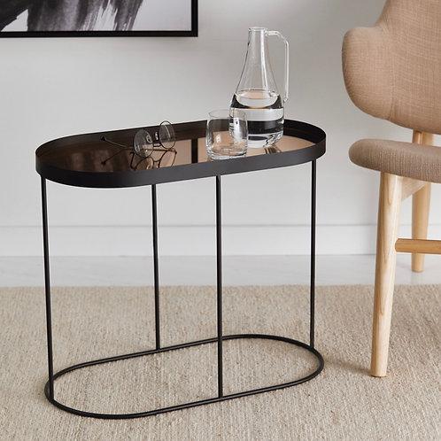Mesa de ferro com espelho cobre