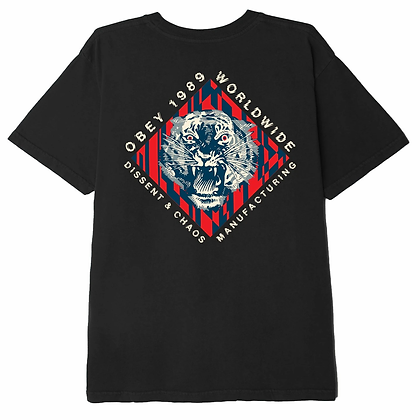 OBEY DISSENT & CHAOS TIGER ORGANIC T-SHIRT