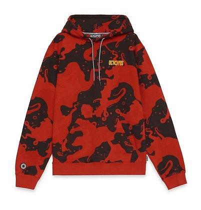 Octopus Camo Hoodie Red