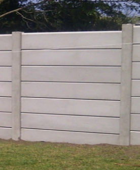 Precast concrete sleeper fencing