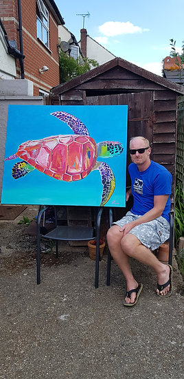 Green turtle #3.  SOLD