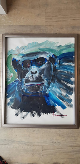 Abstract chimp.