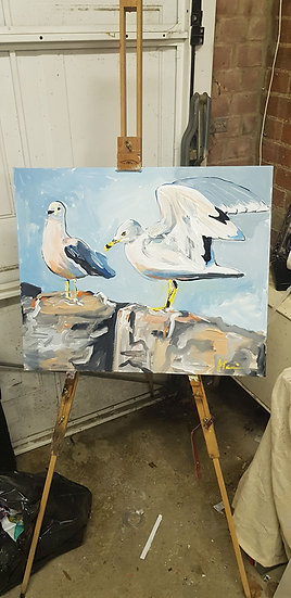 Seagulls.  #SOLD