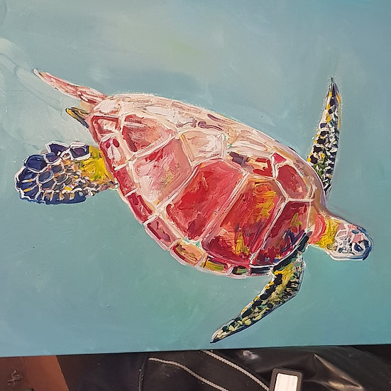 Turtle.  Acrylic.  SOLD