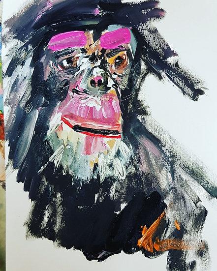 Impressionist chimp