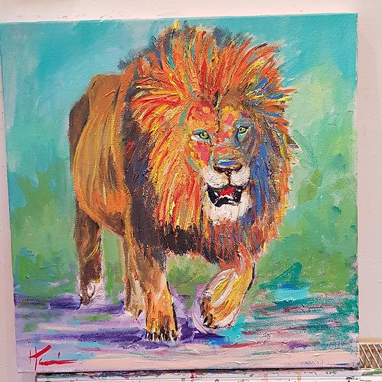King.   Acrylic on canvas.