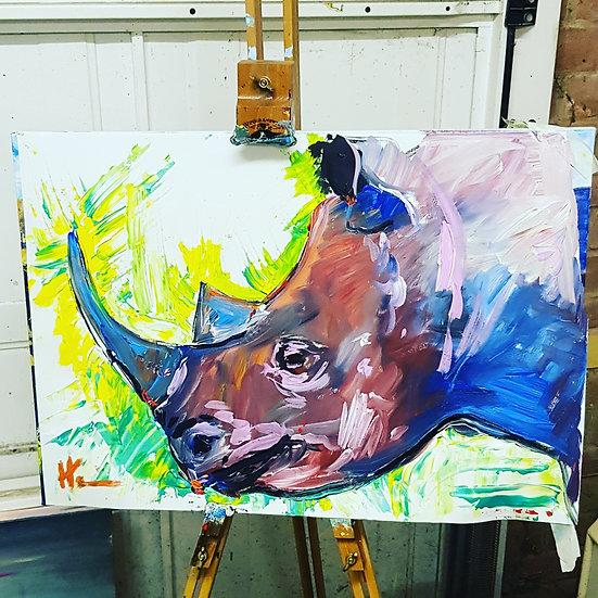 Impressionist rhino.