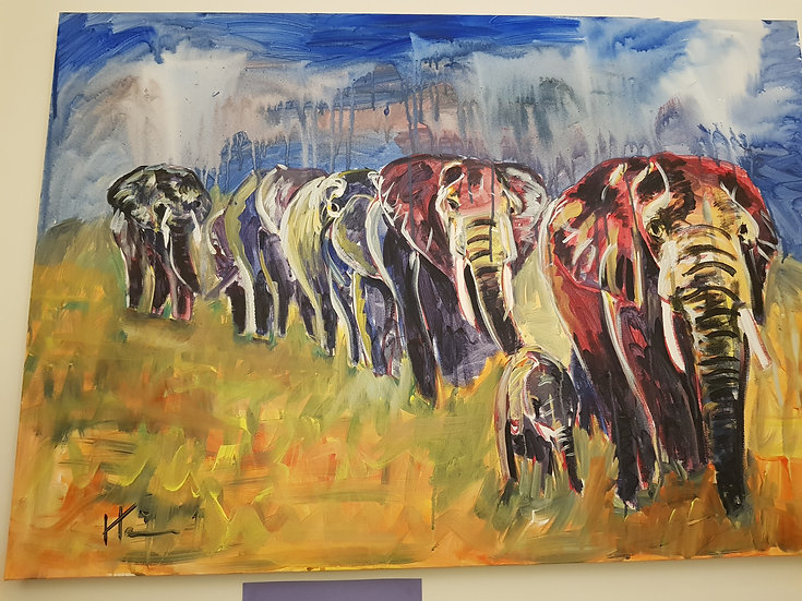 Elephants.  SOLD