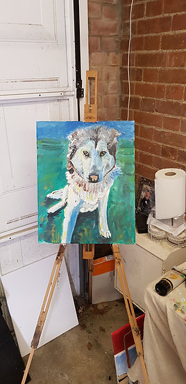 Husky.  Commission piece. #SOLD