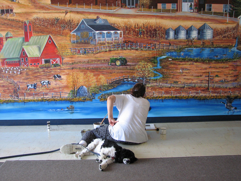 Mural, Alcoma School