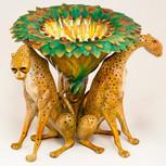 Bronze Cheetah Trio