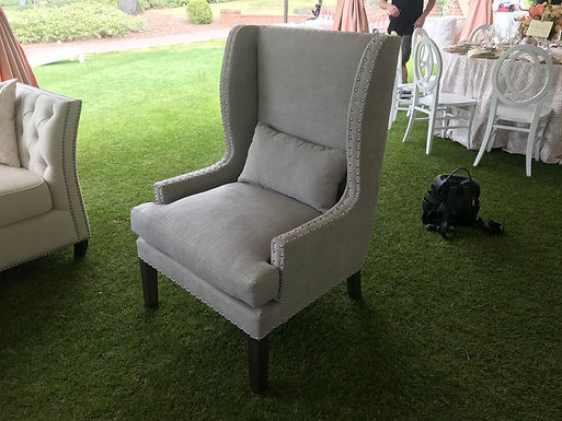 Modern Grey Wingback Chair