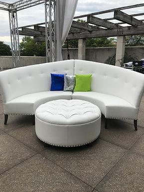White High-Low Sofa