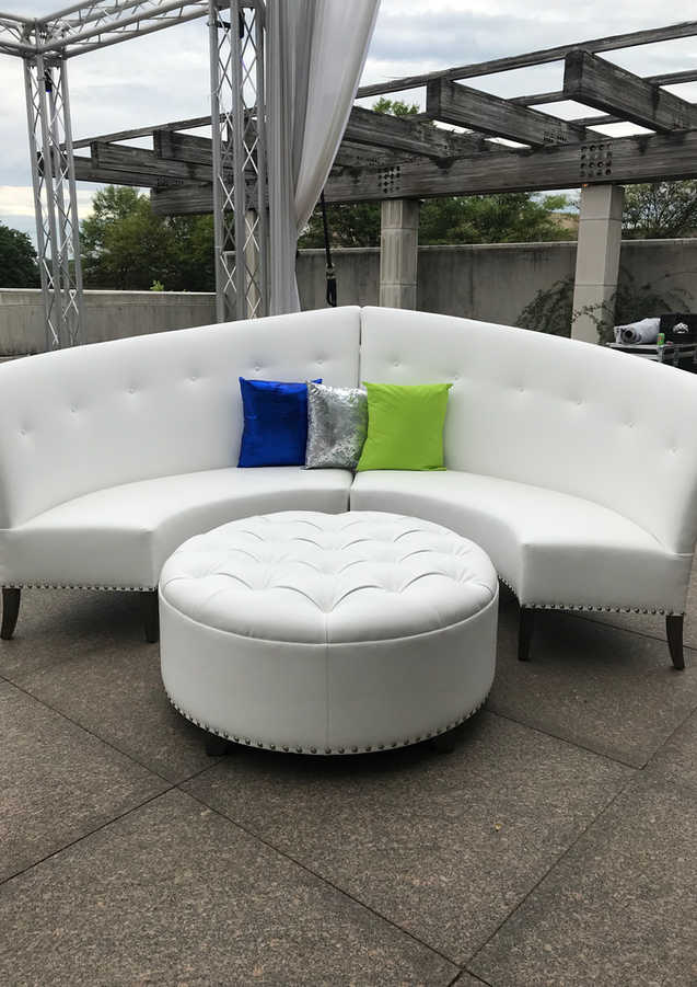 White Leather High-Low Sofas(Jill's favo