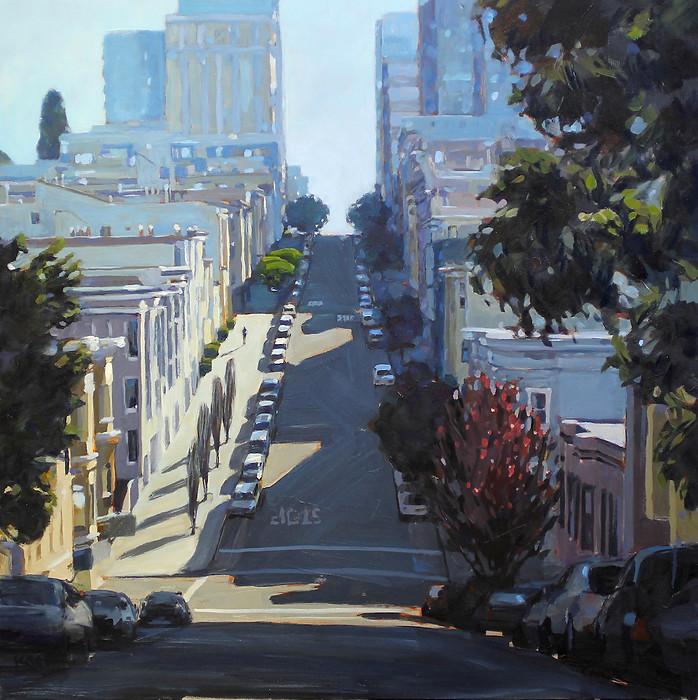Morning Run up Jones St, Russian Hill