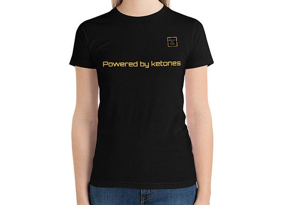 """Powered by ketones"" Short sleeve women's t-shirt"