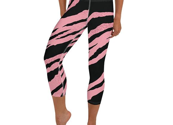 Tiger Print Yoga Capri Leggings