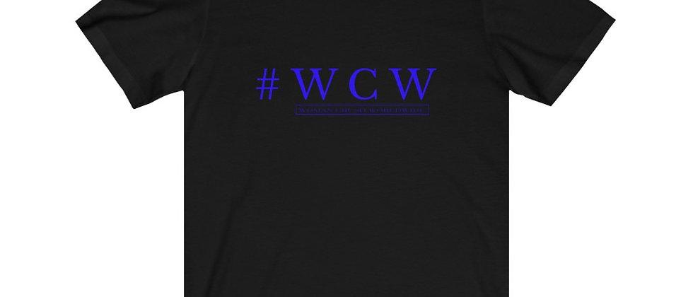 # WCW LOGO BLUE Unisex Jersey Short Sleeve Tee