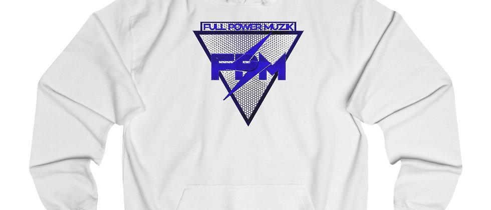 Full Power Muzik Logo in Blue Unisex College Hoodie