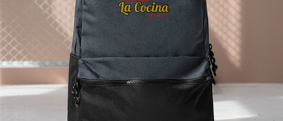 La Cocina Embroidered Champion Backpack