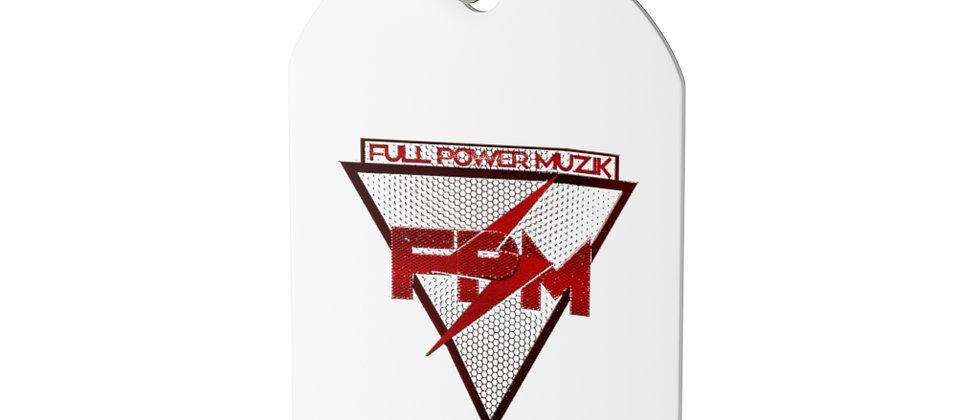 Full Power Muzik Red logo  Dog Tag