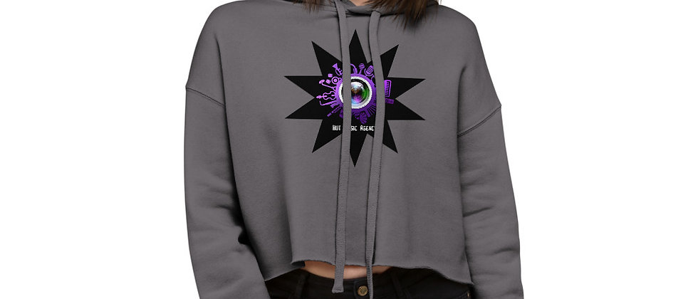 Crop Hoodie with logo and eye print
