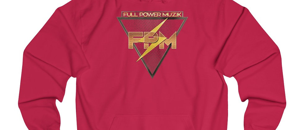 Full Power Muzik Logo Gold Unisex College Hoodie