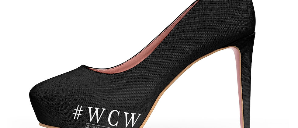 #WCW Women's Platform Heels Black