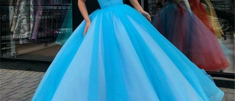 Candy Color Tulle Ball Gown Long Evening Dress Royal Blue