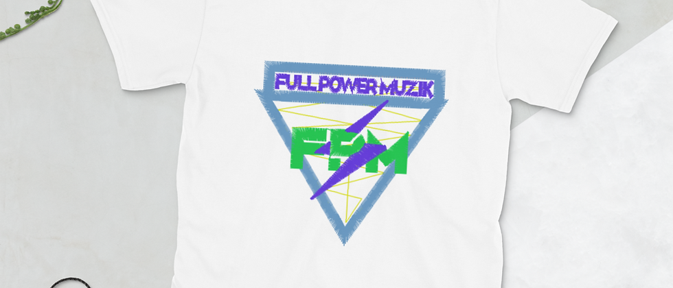 Full Power Muzik (Blue & Green Logo) Short-Sleeve Unisex T-Shirt
