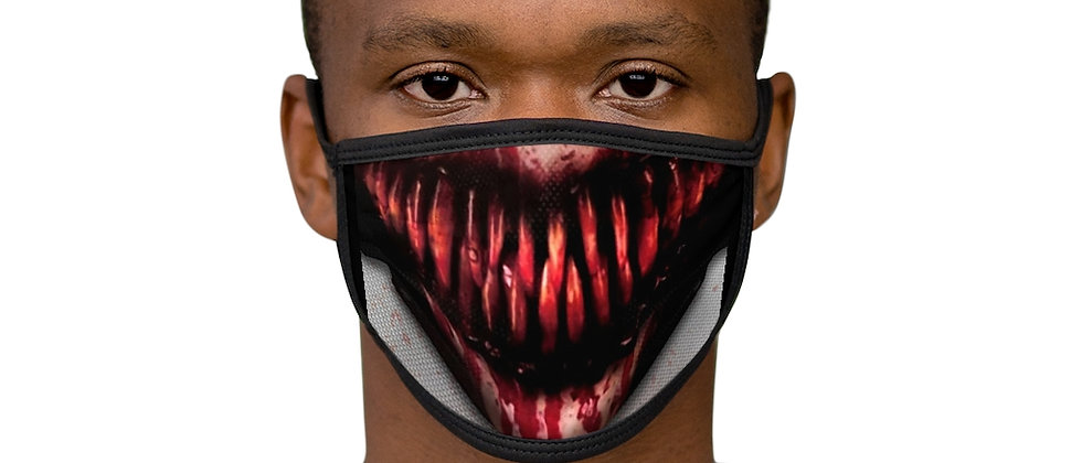 Bloody Teeth Mixed-Fabric Face Mask