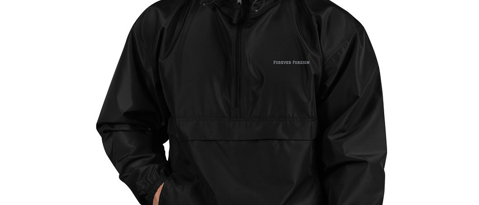 Forever Foreign Embroidered Champion Packable Jacket