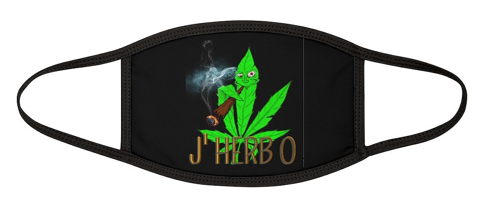 J'HERBO Mixed-Fabric Face Mask
