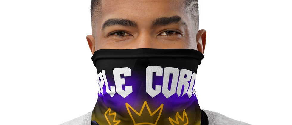 "Neck Gaiter Black, with ""Triple Corona"" Artist Angel the Prince"