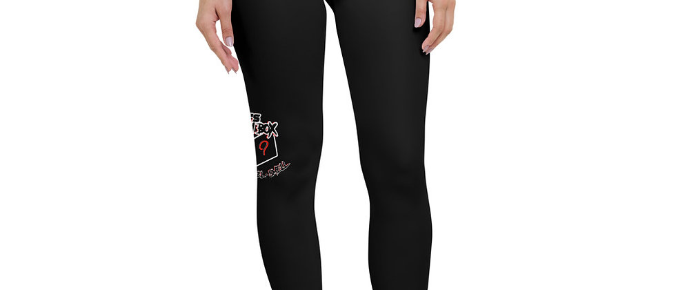 Yoga Leggings Black with Logo Print On Side